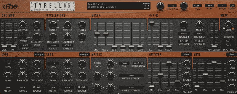 free vst synth - tyrell n6